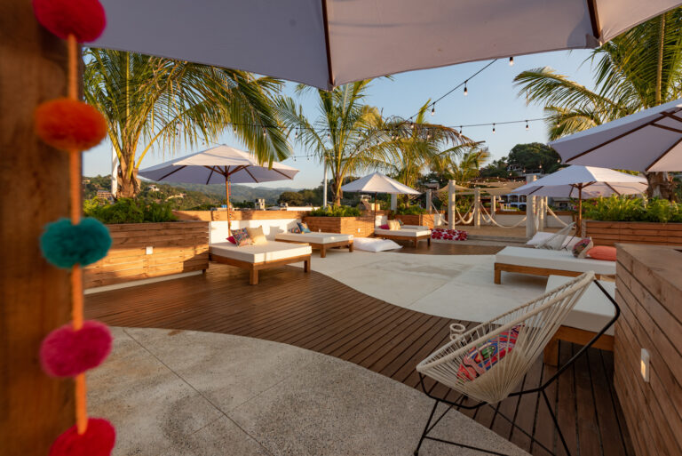 OUR TERRACE IS SPECIALLY DESIGNED FOR COMPLETE RELAXATION